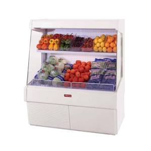 Howard McCray 39x60 Refrigerated Ovation Produce Open Display Case White - SC-OP30E-3L-LS
