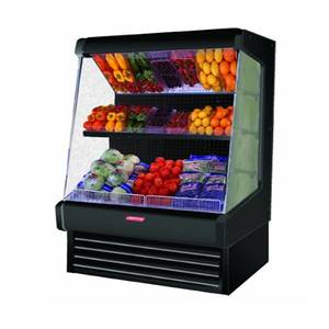Howard McCray 51x60 Refrigerated Ovation Produce Open Display Case Black - SC-OP30E-4L-LS-B