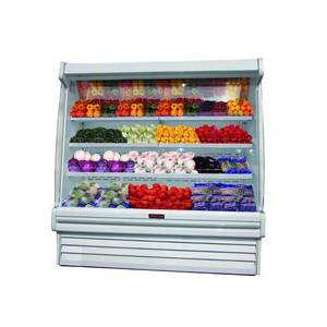 Howard McCray 51 Refrigerated Produce Open Display Case Black - SC-OP35E-4S-LS-B