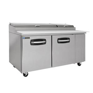 Master-Bilt 17.8 Cu.Ft Fusion Refrigerated 4 Drawer Pizza Prep Table - MBPT67-001