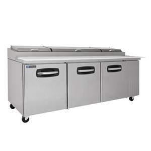 Master-Bilt 27.2cf Fusion Refrigerated Pizza Prep Table 4 Drawer C/R - MBPT93-006