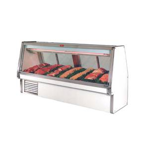 Howard McCray 148.5 Refrigerated Red Meat Display Case Double Duty White - SC-CMS34E-12