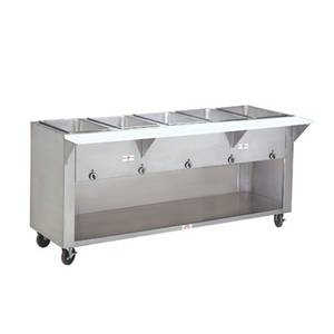 Advance Tabco 47 Electric 3 Wells Hot Food Table w/ SS Cabinet Base 120v - HF-3E-120-BS
