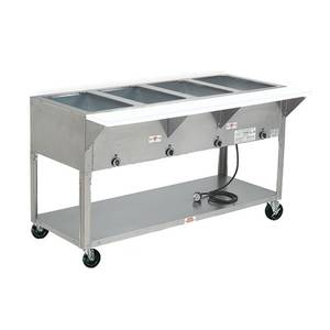 Advance Tabco 77.75 Electric 5 Well Hot Food Table w/ SS Top 240v - HF-5E-240