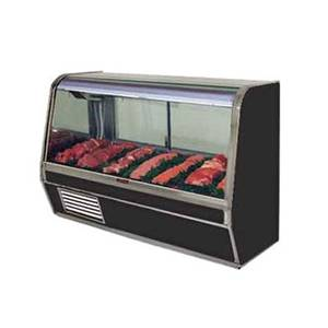 Howard McCray 50 Refrigerated Red Meat Display Case Curved Glass Black - SC-CMS32E-4C-B