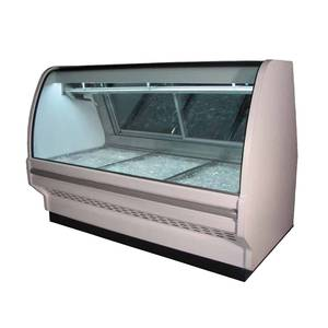 Howard McCray 51 Refrigerated Red Meat Display Case Curved Glass White - SC-CMS40E-4C