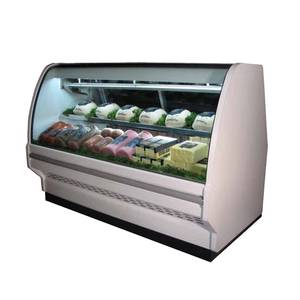 Howard McCray 51 Refrigerated Deli Curved Glass Display Case White - SC-CDS40E-4C-LS