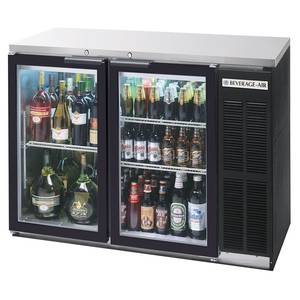 Beverage-Air 48 Two-Section Glass Door Backbar Storage Cabinet Black - BB48GY-1-B-27