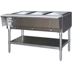 Eagle Group Stainless Steel Natural Gas 5 Well Open Base Hot Food Table - HT5-NG