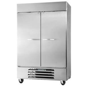 Beverage-Air 49cf Two Solid Door S/s Reach-In Refrigerator - RB49-1S