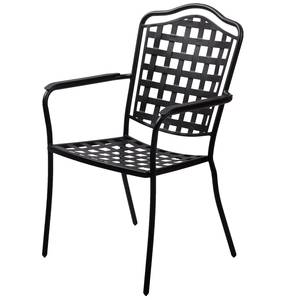 Plantation Prestige Monroe Stackable Dining Chair Charcoal Finish - 2251100-0450