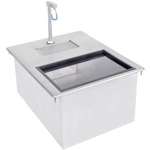 Advance Tabco Drop-In Ice & Water Unit Single Service 18 x 13.5 x 10 - D-24-WSIBL2-X