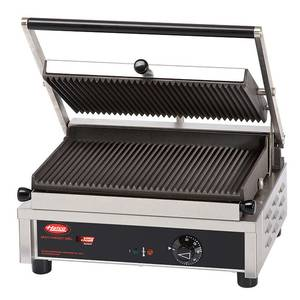 Hatco 14 Single Multi Contact Grill Grooved Plate 240v - MCG14G-240-QS