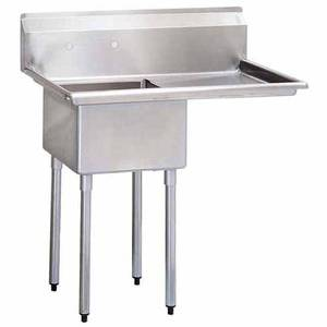 Green World by Turbo Air One 24x24x14 Compartment Sink Right Drainboard - TSB-1-R2