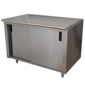 Advance Tabco 24in x 72in Cabinet Base w/ Sliding Doors - CB-SS-246M-X