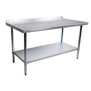 Green World by Turbo Air 24W x 96L Stainless Steel Work Table 1-1/2 Rear Turn Up - TSW-2496SB