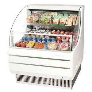 Turbo Air 30 Horizontal Merchandiser Refrigerated Low Profile White - TOM-30L