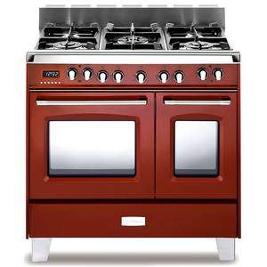 Verona Classic Series 36 Dual Fuel Double Oven Range Gloss Red - VCLFSGE365DR