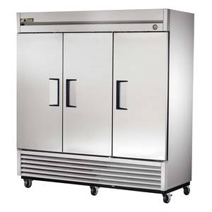 True T-72F 72 Cu.Ft Three Section Stainless Reach-in Freezer
