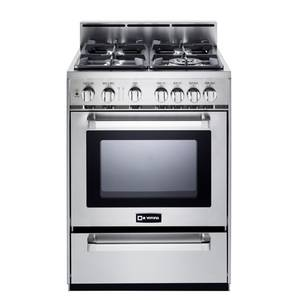 Verona 24 All Gas Range Convection Oven w/ 4 Sealed Burners - VEFSGG244NSS