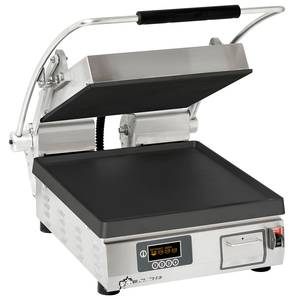 Star Pro-Max Panini Grill Smooth Iron Plate w/ Electronic Timer - PST14IT