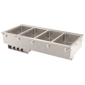 Vollrath (4) 12 x 20 S/s Hot Food Electric Drop-in Well Unit - 3640610