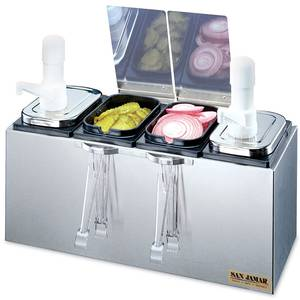 San Jamar Stainless Steel Pump & Condiment Tray Center - P9722