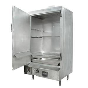 Town Food Service Equipment 36 S/s MasterRange Smokehouse Natural Gas Left Hinged Door - SM-36-L-SS-N