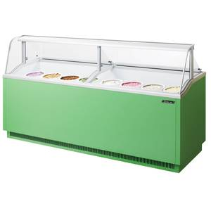 Turbo Air 27.9cf Ice Cream Dipping Cabinet w/ 16 Can Capacity Green - TIDC-91G