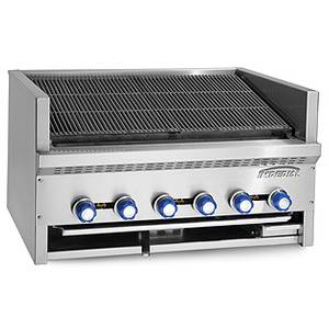 Imperial Range Steakhouse 6 burner 36 Countertop Charbroiler Gas - IABS-36