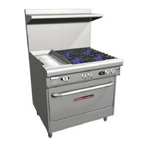 Southbend 36 Ultimate Gas/Electric Range 4 Burners, 12 Griddle Left - H4361A-1G