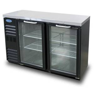 Nor-Lake 15.6 cu ft Refrigerated Back Bar Cabinet with 2 Glass Doors - NLBB60NG