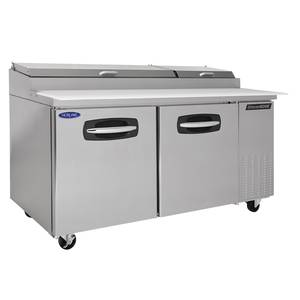 Nor-Lake 67 Pizza Prep Table Refrigerated Counter 2 Drawers & 1 Door - NLPT67-003