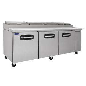 Nor-Lake 93.3 Pizza Prep Table Refrigerated Counter (6) Drawers - NLPT93-001
