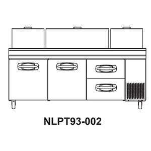 Nor-Lake 93 Pizza Prep Table Refrigerated Counter 2 Drawers & 2 Door - NLPT93-002