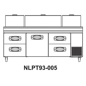 Nor-Lake 93 Pizza Prep Table Refrigerated Counter 2 Drawers & 1 Door - NLPT93-005
