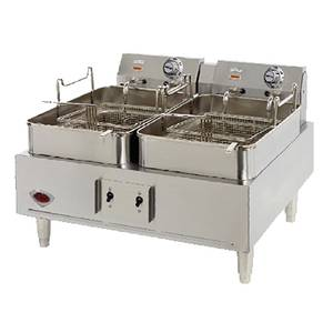 Wells 30lb Split Pot Electric Countertop Fryer - Thermostatic Cont - F-30