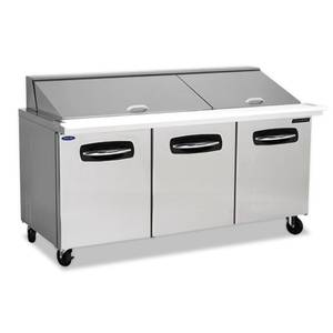 Nor-Lake 72-3/8 Mega Top Refrigerated Counter Sandwich or Salad Unit - NLSMP72-30-001