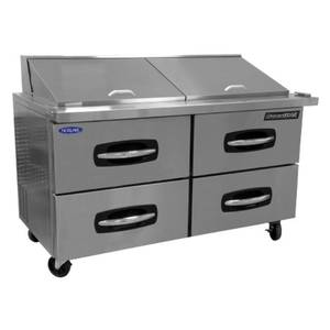Nor-Lake 60-3/8 Refrigerated Counter Sandwich / Salad Top 4 Drawers - NLSP60-16-001