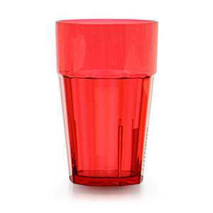 Thunder Group 24 oz. Red Plastic Diamond Tumbler - Case of 12 - PLPCTB124RD