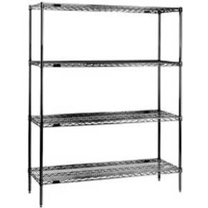 Eagle Group Red-i-Pak® 60Wx18Dx74H 4 Tier Epoxy Coated Shelving Unit - 1860V74