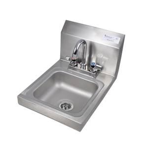 BK Resources Wall Mount Space Saver Hand Sink - BKHS-D-SS-P-G