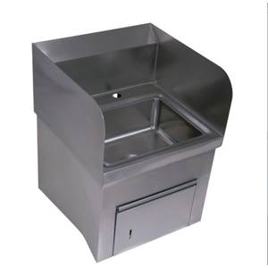 BK Resources 13-3/4Wx10D Wall Mount Hand Sink Only - BKHS-D-1410-SKTS