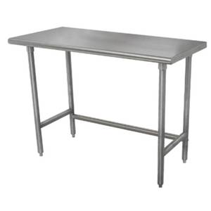 Advance Tabco 84Wx24D 16 Gauge 430 Series Stainless Steel Work Table - TAG-247