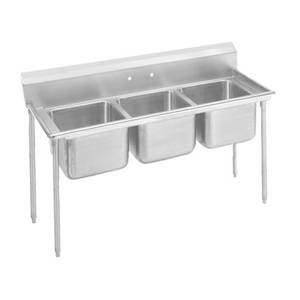 Advance Tabco Regaline 3-Compartment Stainless Steel Sink-20x20 Bowls - 9-23-60