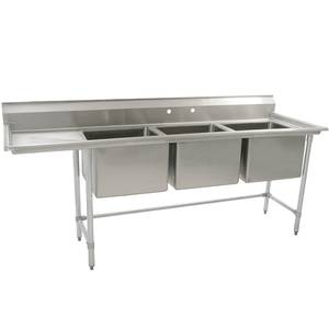 Eagle Group S14 Series 3-Compartment Stainless Steel Sink-20x20 Bowls - S14-20-3-24L-SL
