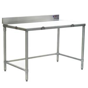 Eagle Group 48Wx36D Boning Table w/ 4 Stainless Steel Backsplash - BT3648S