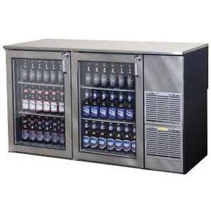 Glastender 60 W Right Refrigerated Black Back Bar Cabinet Two Section - BB60-R