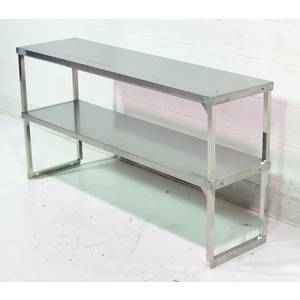 Liquidation 60x16 Stainless KD Double Overshelf - DS-1660