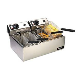 Anvil America Double Counter Top Electric Fryer 220V W/ Two 10lb Wells - FFA8020